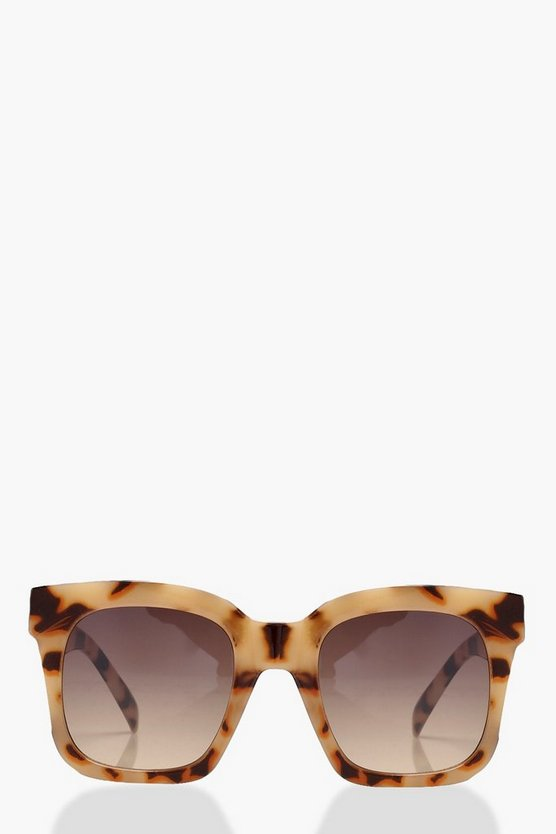 Cream Tortoiseshell Oversized Sunglasses