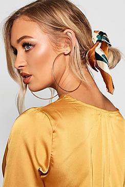Colour Block Satin Scarf Hair Tie