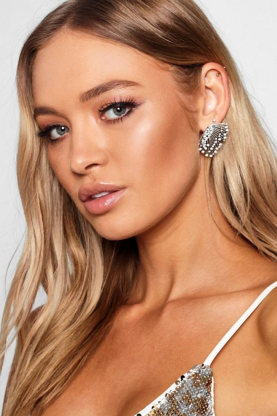 Delicate Diamante Winged Earring