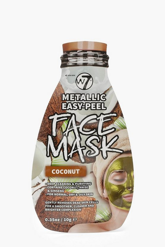 W7 Metallic Easy Peel Coconut Face Mask