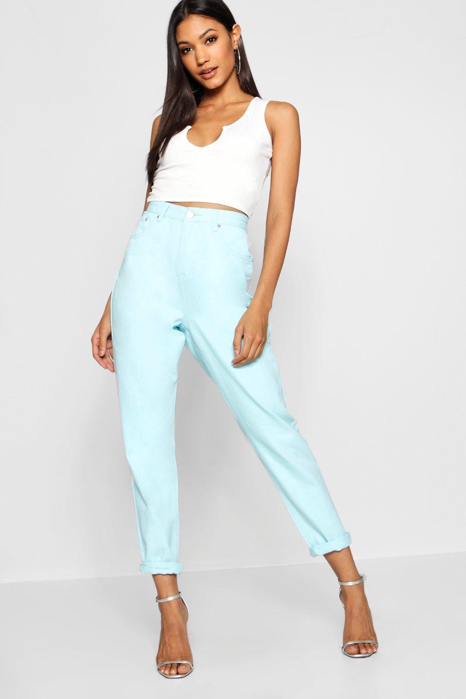Купить Jeans, Голубой пастельный Мамины джинсы из денима, boohoo