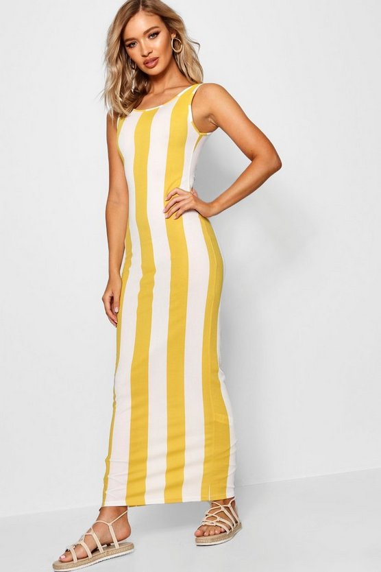 Scoop Front Jersey Maxi Dress