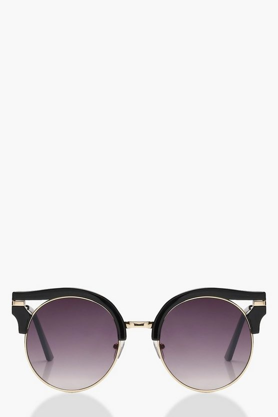 Metal Trim Cat Eye Sunglasses