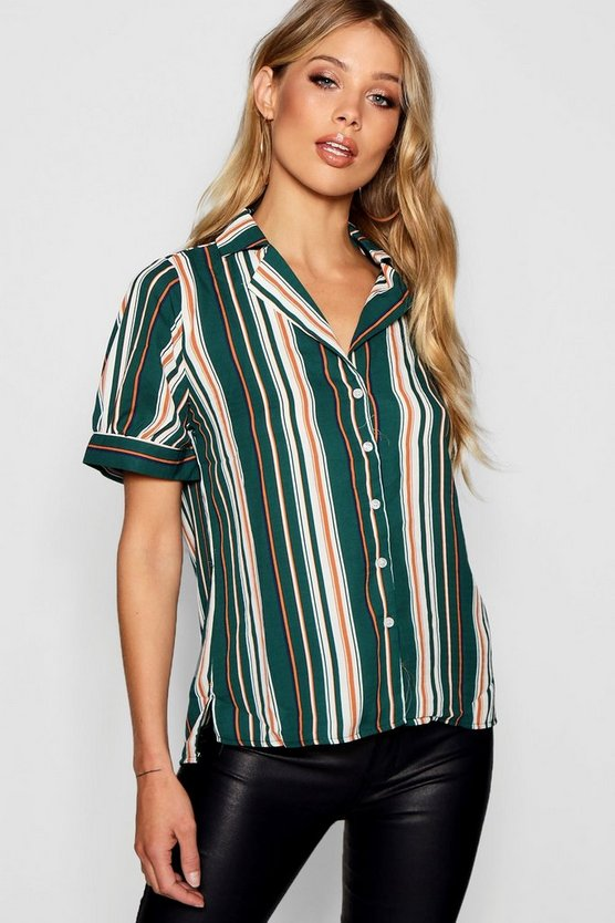 Stripe Botton Up Shirt