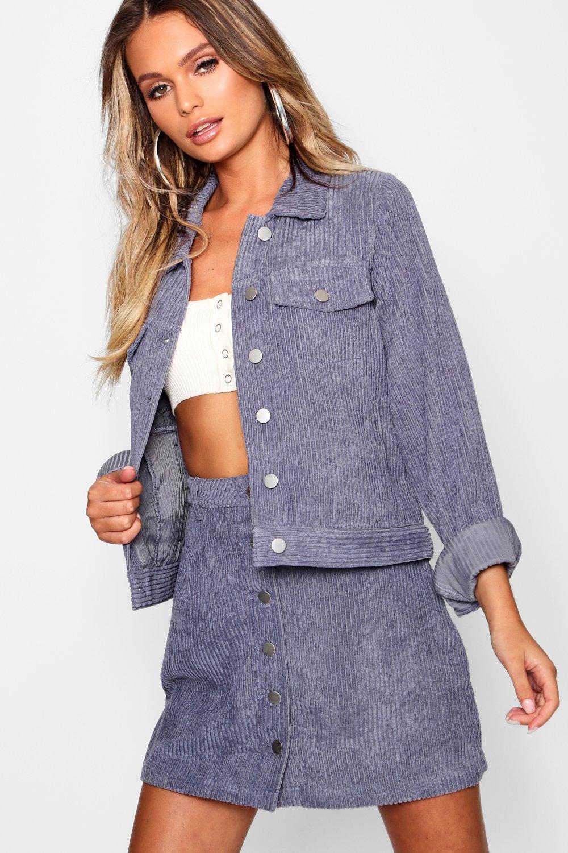 Купить Coats & Jackets, Джинсовая куртка оверсайз из крупного вельвета, boohoo