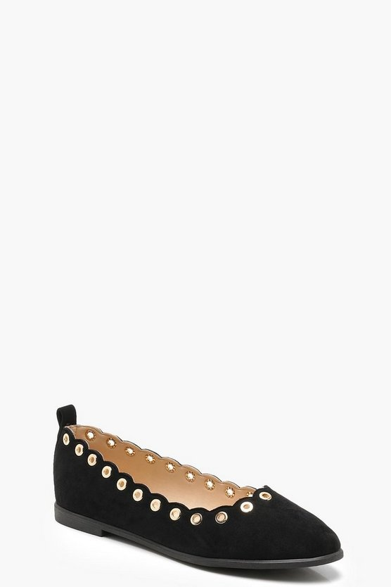 Scallop Edge Ballerinas