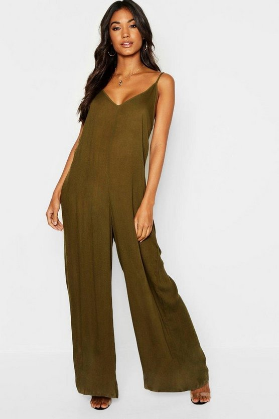 Strappy Wide Leg Strap Back Jumpsuit