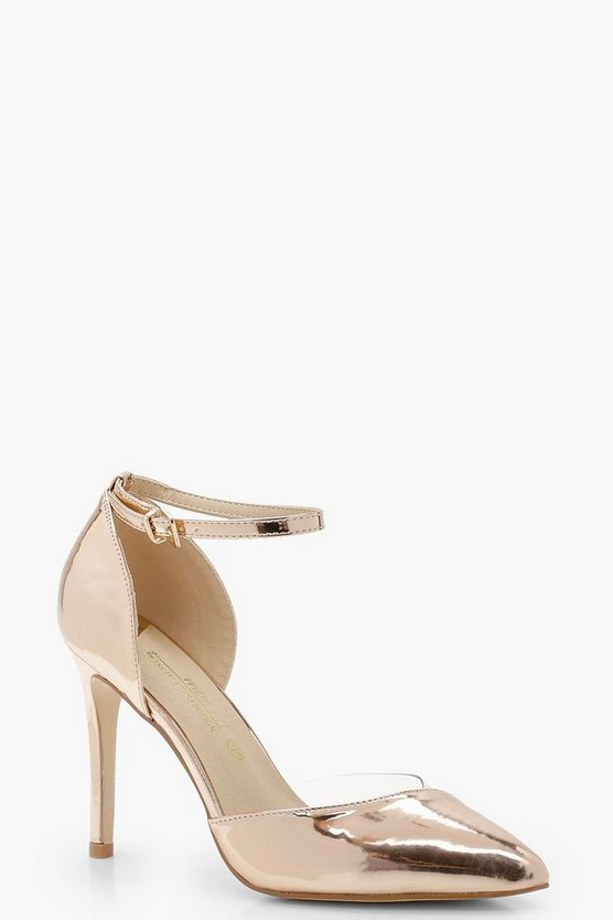 Willa Wide Fit Perspex Court Shoes