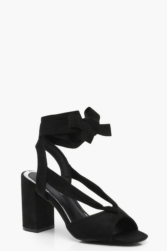 Wide Fit Peeptoe Wrap Heels