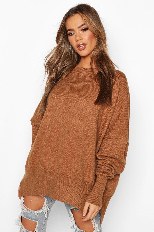 Купить Knitwear, Вязаный джемпер свободного размера с рукавами-фонариками, boohoo