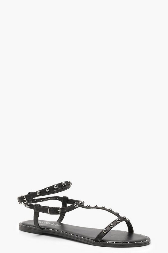 Susie Studded T-Bar Sandals