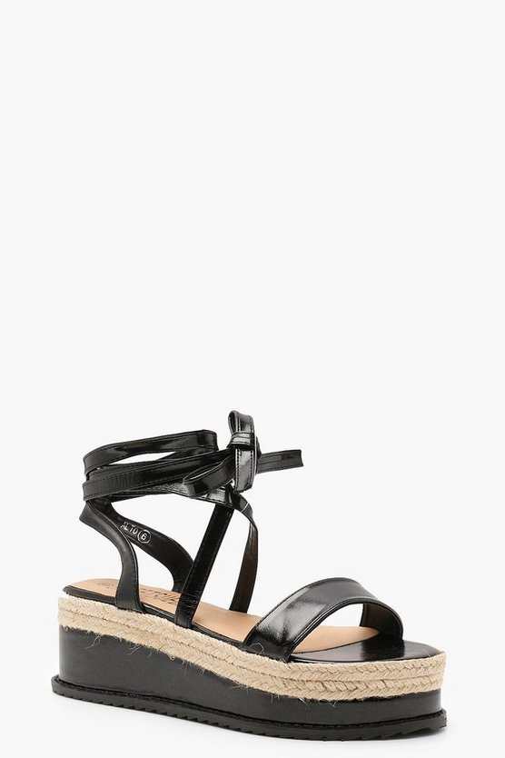 Anna Metallic Wrap Flatform Sandals