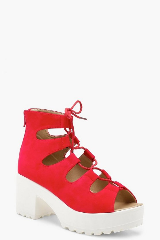 Poppy Lace Up Cleated Sandals