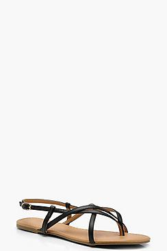 Asymmetric Gladiator Sandals