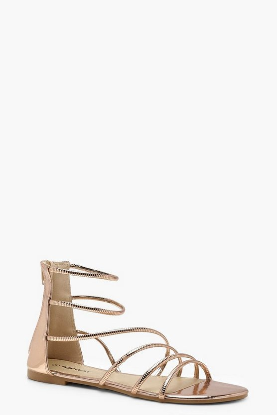 Metallic Gladiator Sandals