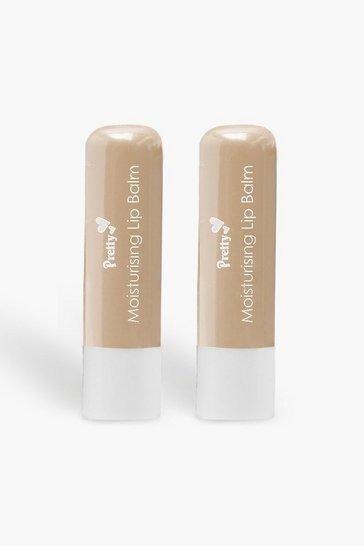 White Pretty Shea Butter 2 Pck Moisturising Lip Balms