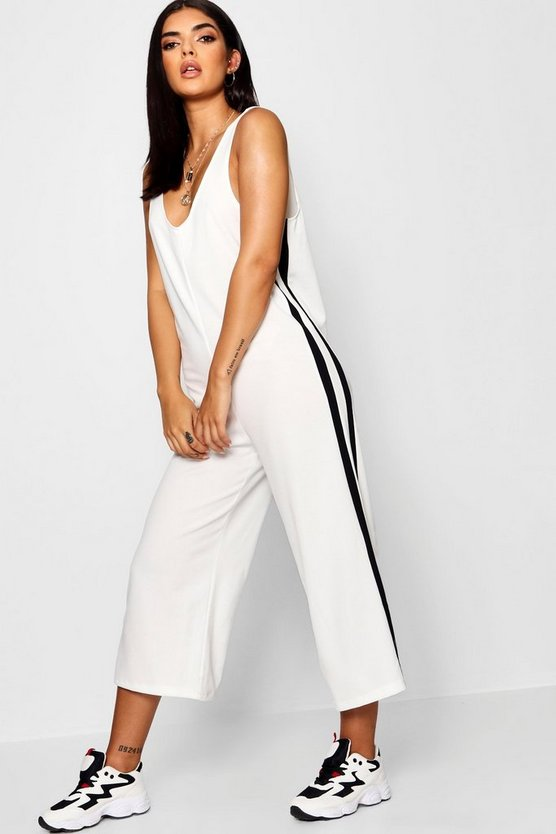 Side Panel Wide Leg Jumpsuit
