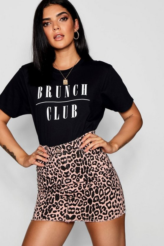 Brunch Club Slogan T-Shirt