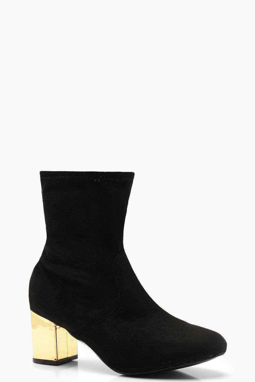 Купить Boots, Сапоги для очень широкой стопы с контрастным толстым каблуком, boohoo