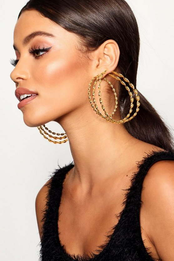 Oversized Twist Hoop Earring Multipack
