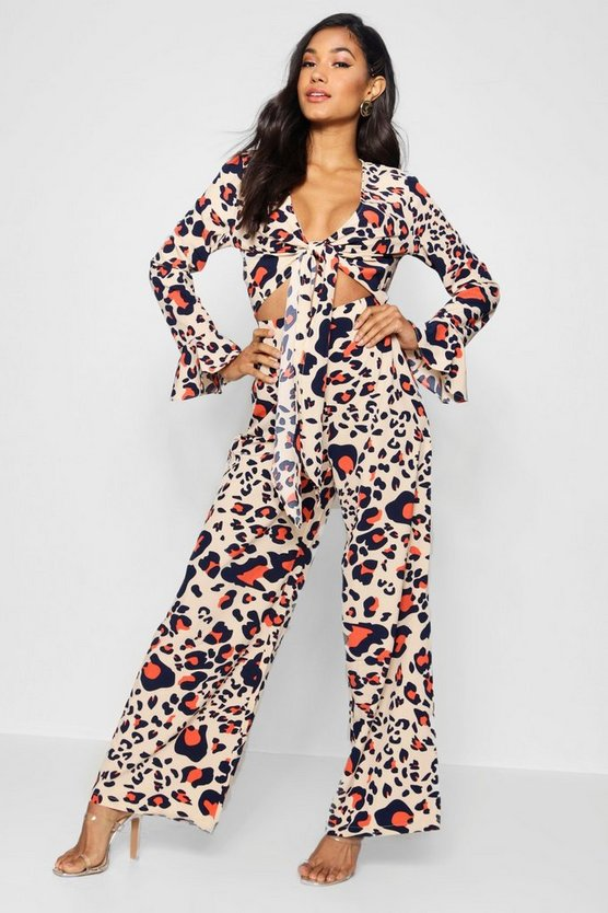 Rosana Bright Animal Wide Leg Trouser
