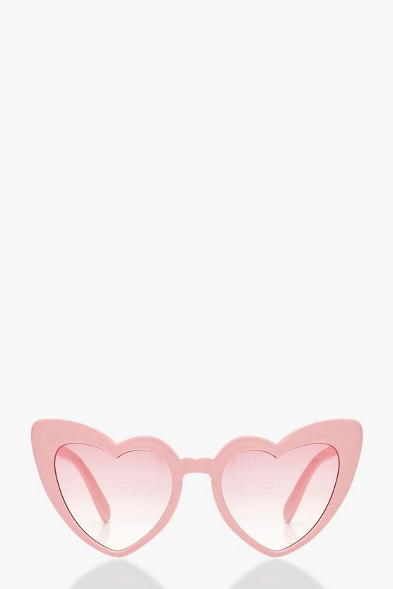 Oversized Pink Heart Cat Eye Sunglasses