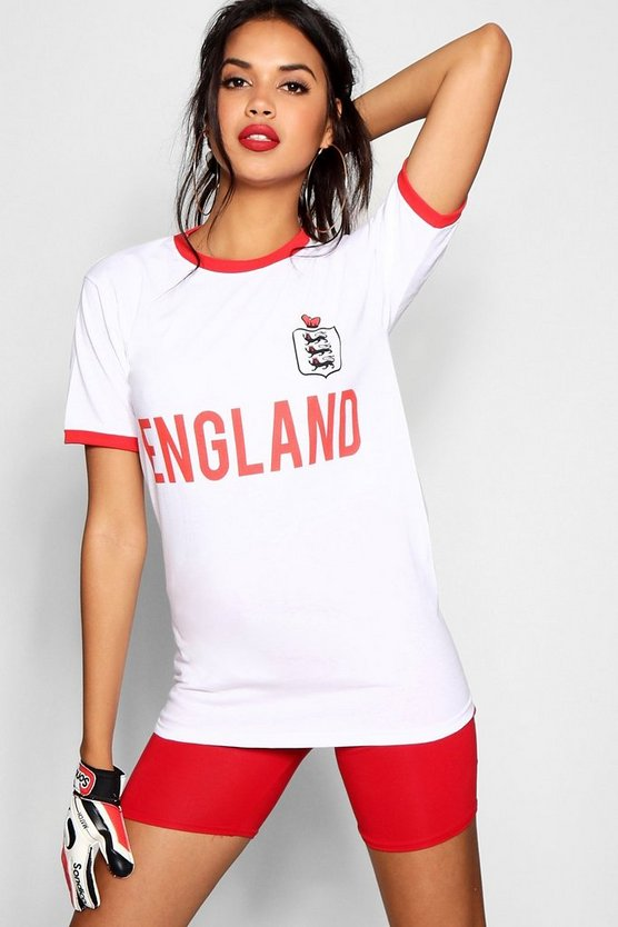 England Slogan Oversized T Shirt