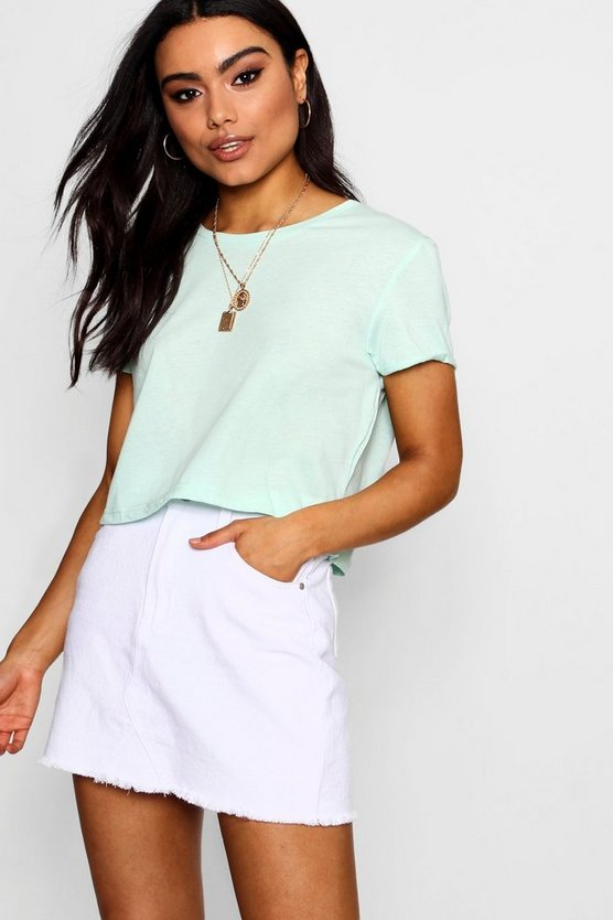 Isabelle Cropped Crew T-Shirt