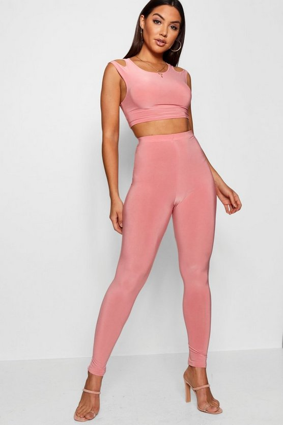 Polly Cut Out T-Shirt & High Waist Legging Co-ord