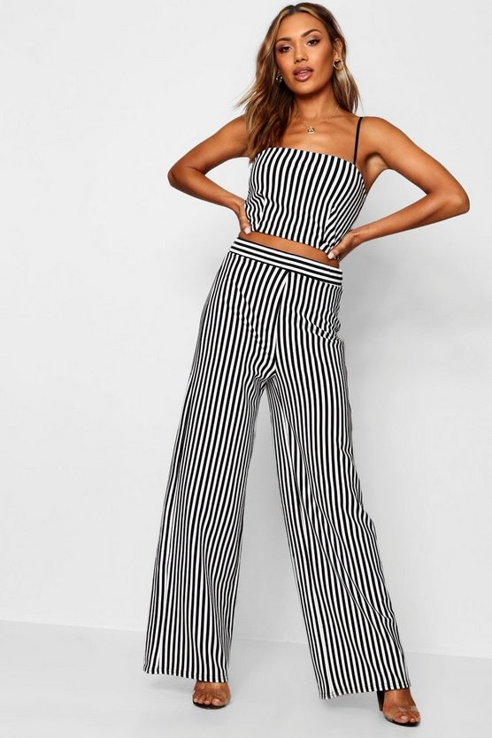 Winona Mono Stripe Top & Trouser Co-ord