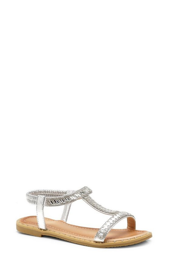 Frances Embellished T-Bar Sandals