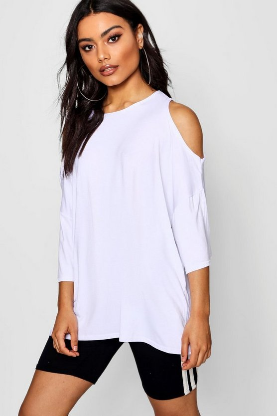 Oversized Cold Shoulder T-Shirt
