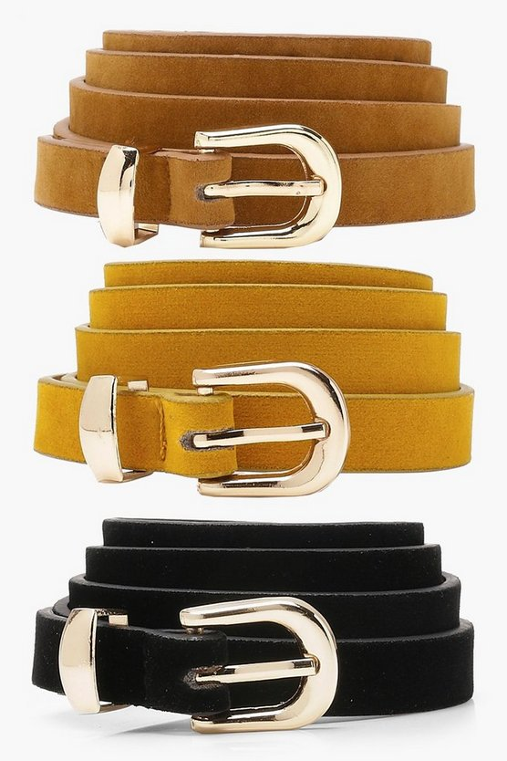 Tia Three Pack Suedette Belts