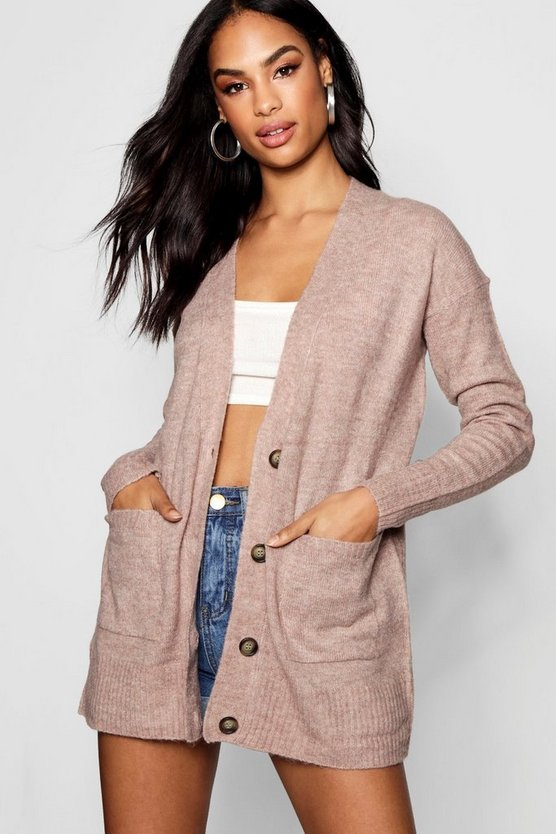 Loose Fit Button Through Cardigan