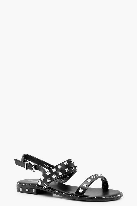 Studded Two Strap Sandals