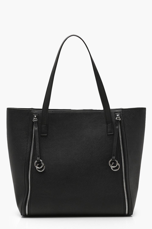 Купить Bags, Объемная сумка с короткими ручками с кольцами и молниями для ежедневного использования, boohoo