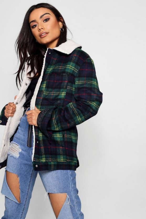 Kate Check Trucker Jacket