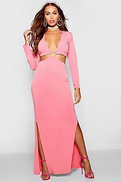 Ring Detail Maxi Dress