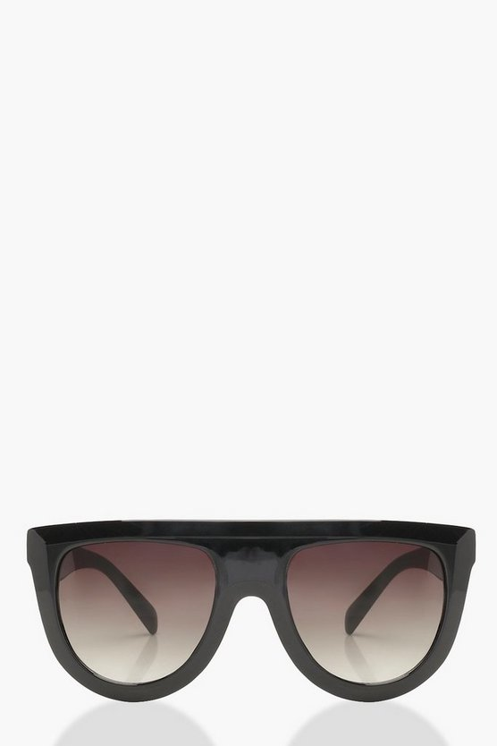 Olivia Oversized Flat Top Sunglasses