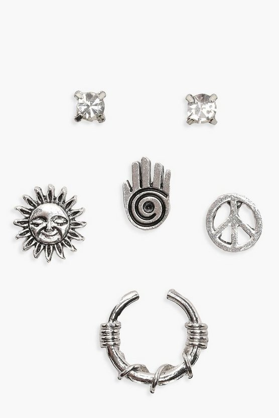 Boho Hand & Sun Mixed Stud Pack