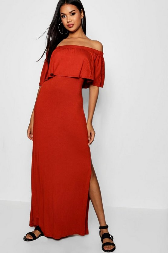 Leona Off The Shoulder Ruffle Maxi Dress