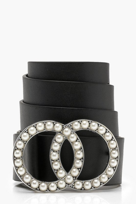 Double Ring Pearl Belt