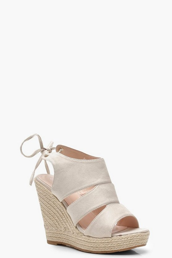 Cut Work Espadrille Wedges