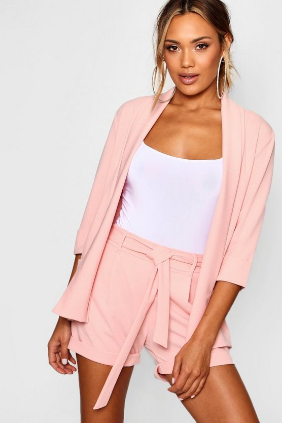 Emma Woven Blazer & Shorts Co Ord by Boohoo