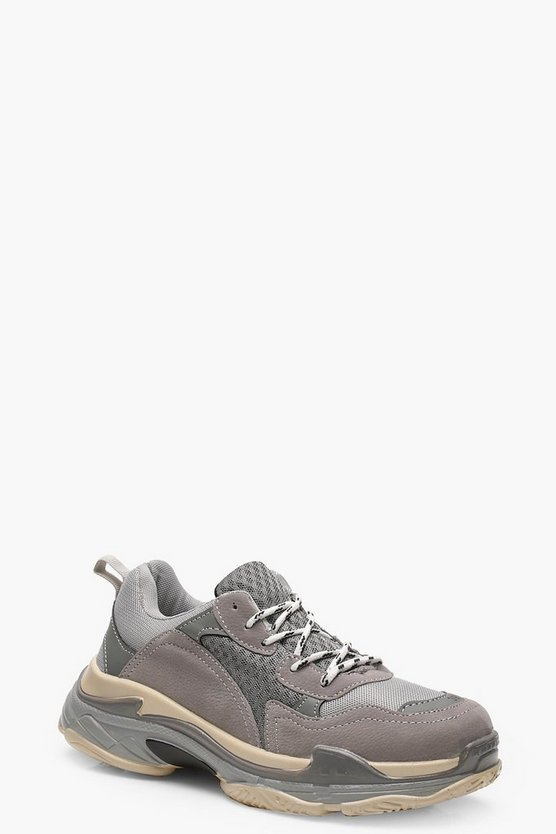 Alice Colour Block Chunky Trainers