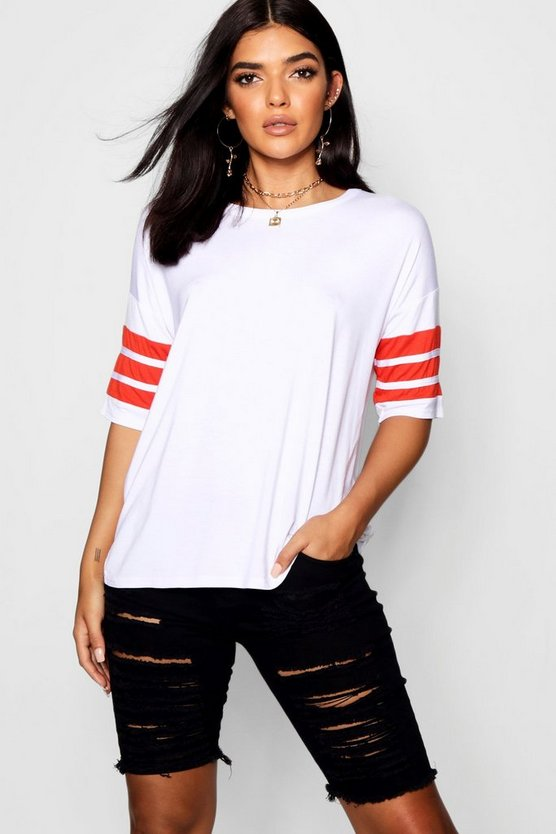 Sally Sport Tape Oversized Tee