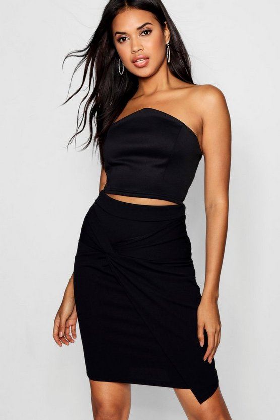 Raised V Front Bandeau Crop
