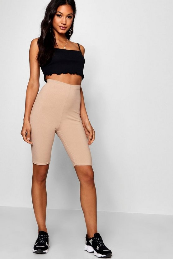 Ribbed Longline Cycling Shorts