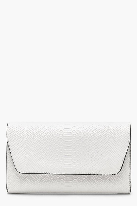 All Over Snake Clutch With Chain