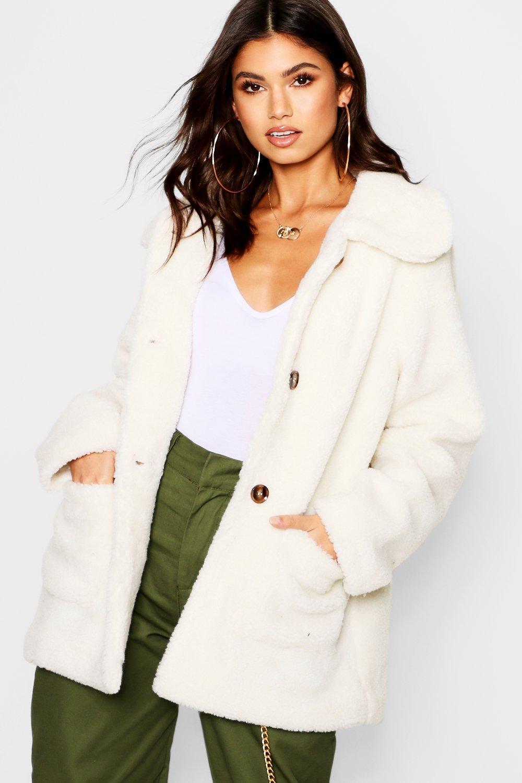 Купить Coats & Jackets, Пальто из искусственного меха Teddy, boohoo